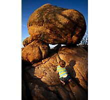 Rock Toddler Photographic Print