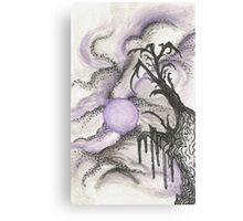 Tree in Moonlight Canvas Print