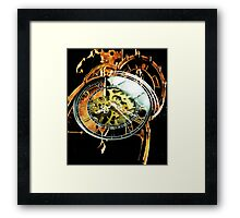 Analog > Digital Steampunk watch gears Framed Print