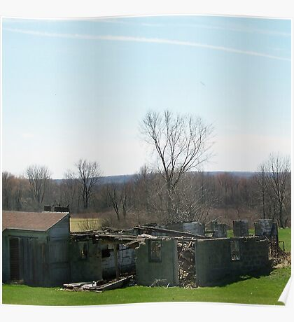 Old and Rugged Building on the Farm Poster