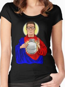 The Propane Savior  Women's Fitted Scoop T-Shirt