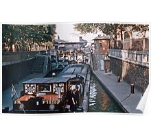 Barge in canal Jaures 1957 09190010  Poster