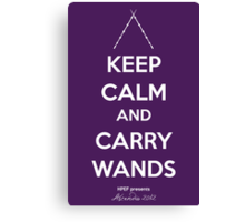 Keep Calm and Carry Wands Canvas Print