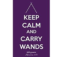 Keep Calm and Carry Wands Photographic Print