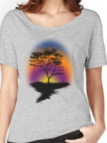 Sunset Trees Women's Relaxed Fit T-Shirt