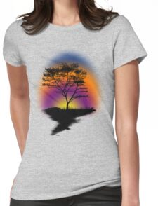 Sunset Trees Womens Fitted T-Shirt