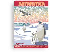 Antarctica - Ford Trimotor and Penguins Canvas Print