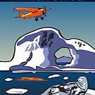Art Deco Antarctica - Seals and Lockheed Vega by contourcreative