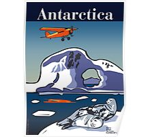 Art Deco Antarctica - Seals and Lockheed Vega Poster