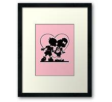 Valentine Kiss Framed Print