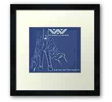 Powerloader Blueprint Framed Print