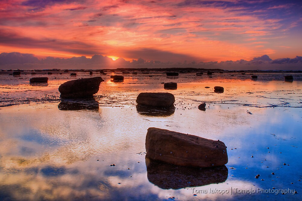 Sunrise Reflection At Low Tide by Toma Iakopo | Tomojo Photography