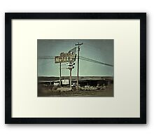 Standing Guard Over The Mother Road Framed Print
