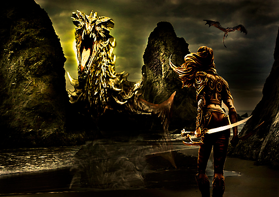 The Golden Dragon by Andrew (ark photograhy art)