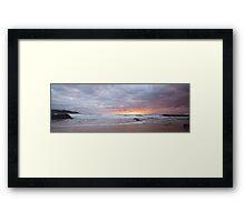 Pebbly Sunrise Framed Print