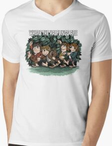 Where the Halflings Are Mens V-Neck T-Shirt