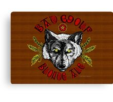 Bad Wolf Blonde Ale Canvas Print