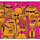 Robots Holidays by AlainB68
