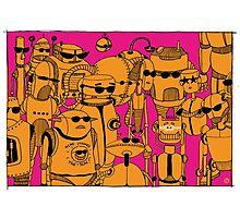 Robots Holidays Photographic Print