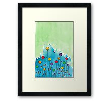 Party bubbles Framed Print