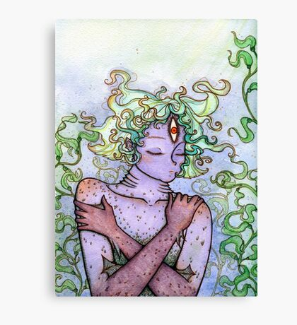 Slumbering Sea Goddess Canvas Print
