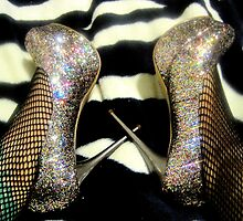 Disco Glitter Heels by Tracey Phillips