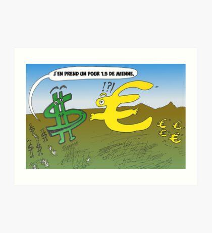 Infos Options Binaires en BD USD et EUR Art Print