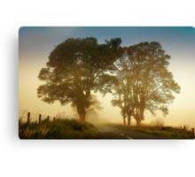 Twilight Guardians. Misty Roads of Scotland Canvas Print