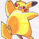 Pikachu by ProfessorBees
