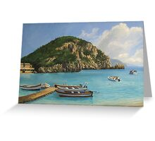 The Boats of Paleokastritsa Greeting Card
