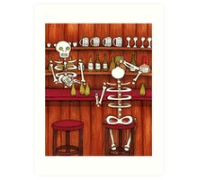 Skeleton Bar Art Print