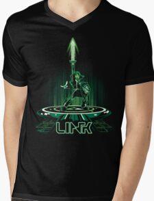 LINKTRON Mens V-Neck T-Shirt