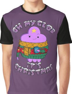 Lumpy Space Princess - Oh My Glob It's Christmas Graphic T-Shirt