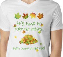 It's Time To Rake The Leaves Mens V-Neck T-Shirt
