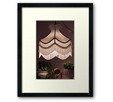 Hand Stitched Swag Lamp Shade Framed Print