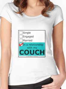 In A Relationship With My Couch Women's Fitted Scoop T-Shirt