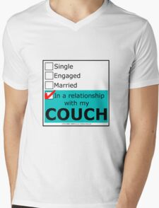 In A Relationship With My Couch Mens V-Neck T-Shirt