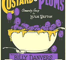 CUSTARD AND PLUMS (vintage illustration) by ART INSPIRED BY MUSIC