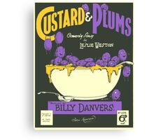 CUSTARD AND PLUMS (vintage illustration) Canvas Print