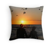 A Flock of Lovers Throw Pillow