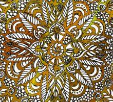 Coloring Mandala on White Background Sticker
