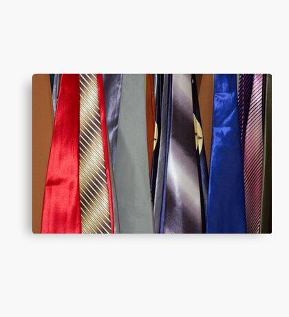 Tie Rack Canvas Print