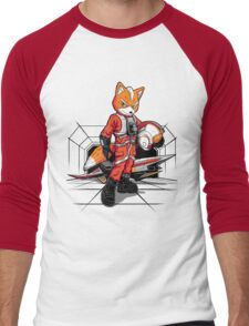Rebel Fox Men's Baseball ¾ T-Shirt