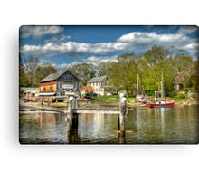 H.A. Burnham Boat Yard Canvas Print