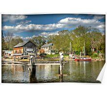 H.A. Burnham Boat Yard Poster