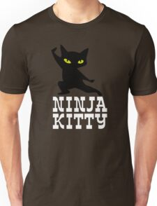 Ninja Kitty Retro Poster Unisex T-Shirt