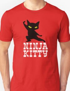 Ninja Kitty Retro Poster Unisex T-Shirt