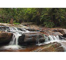 Waterfall and Bridge Photographic Print