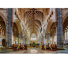 Exeter Cathedral Nave Photographic Print