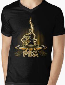 PIKATRON Mens V-Neck T-Shirt